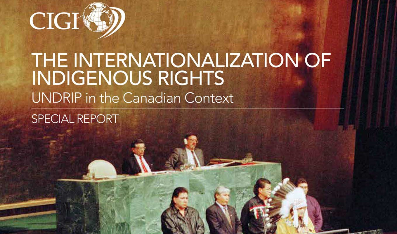 The Internationalization of Indigenous Rights UNDRIP in the Canadian Context